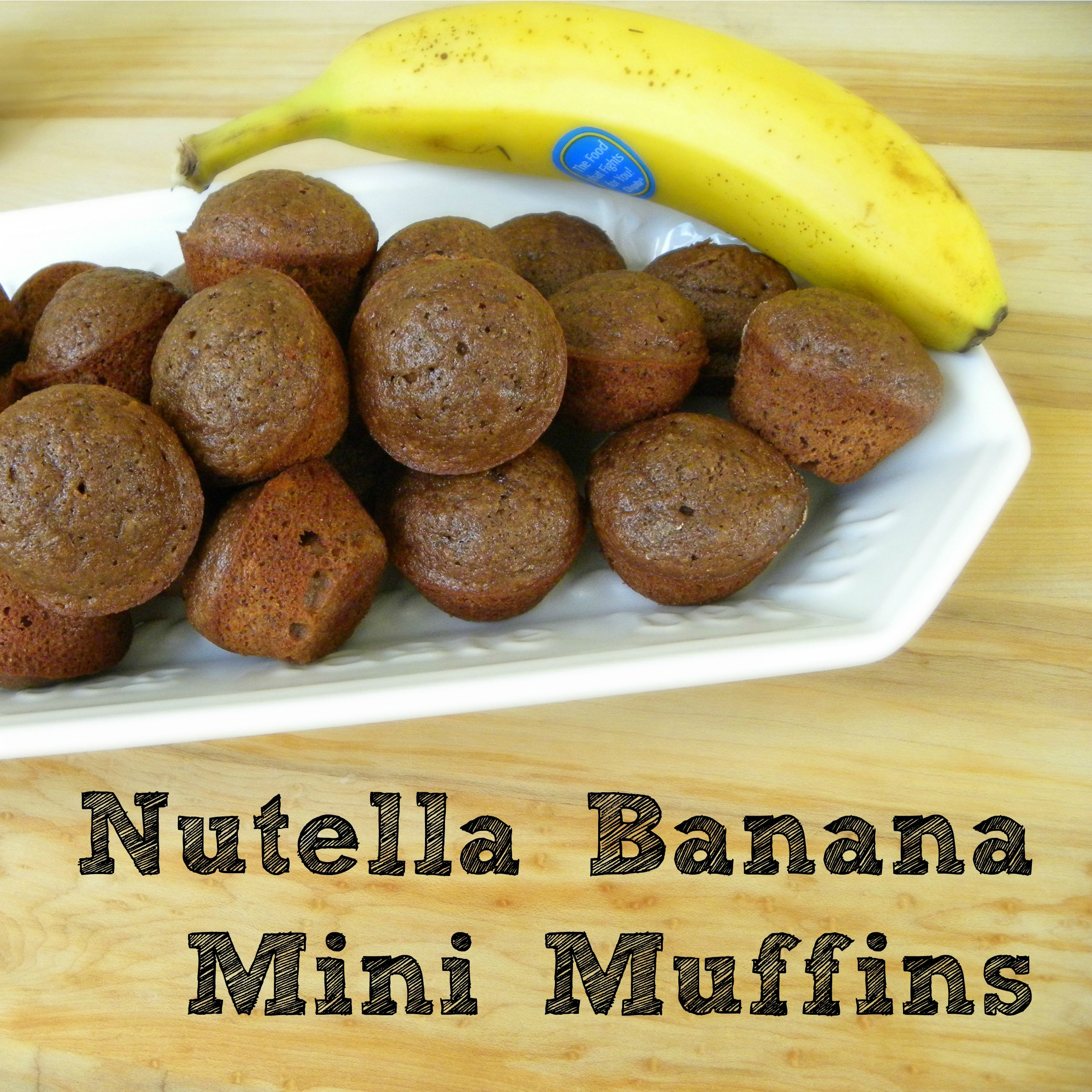 Nutella Banana Mini Muffins, nutella muffins, nutella baking, nutella ...