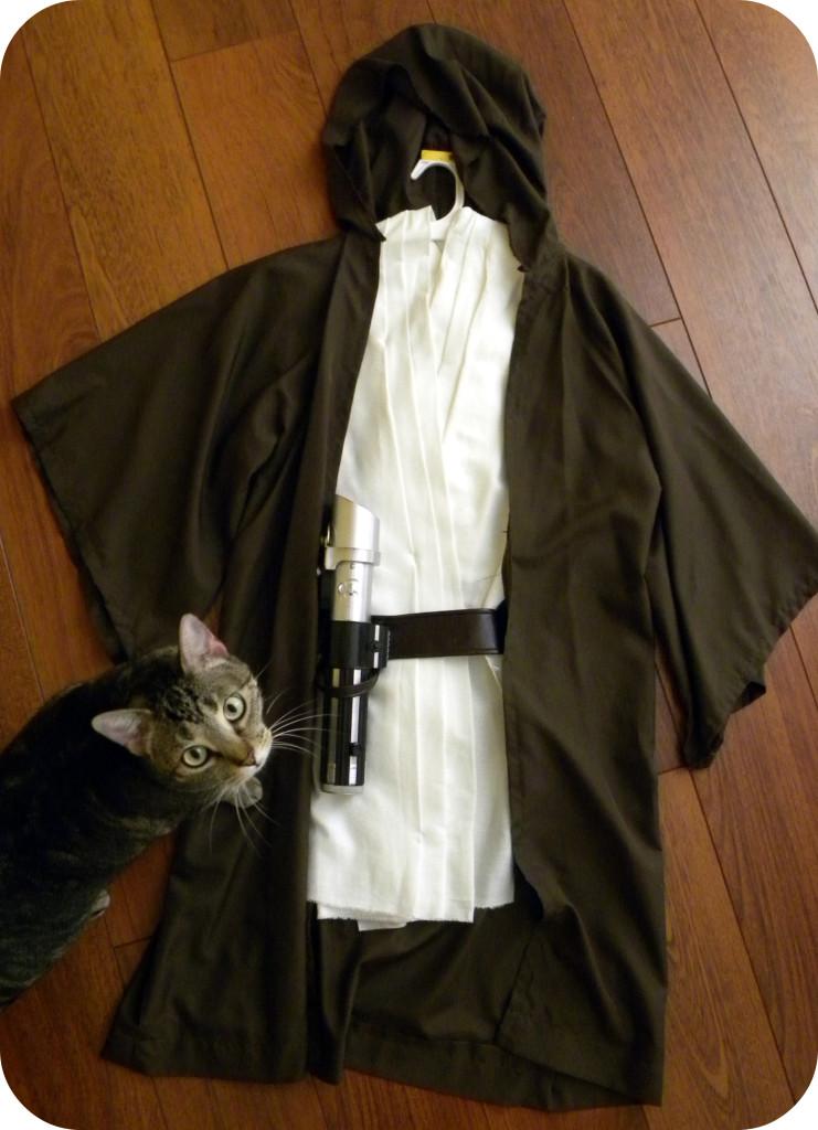 jedi robe, jedi robe pattern, star wars costume, jedi costume, homemade jedi costume, sew jedi