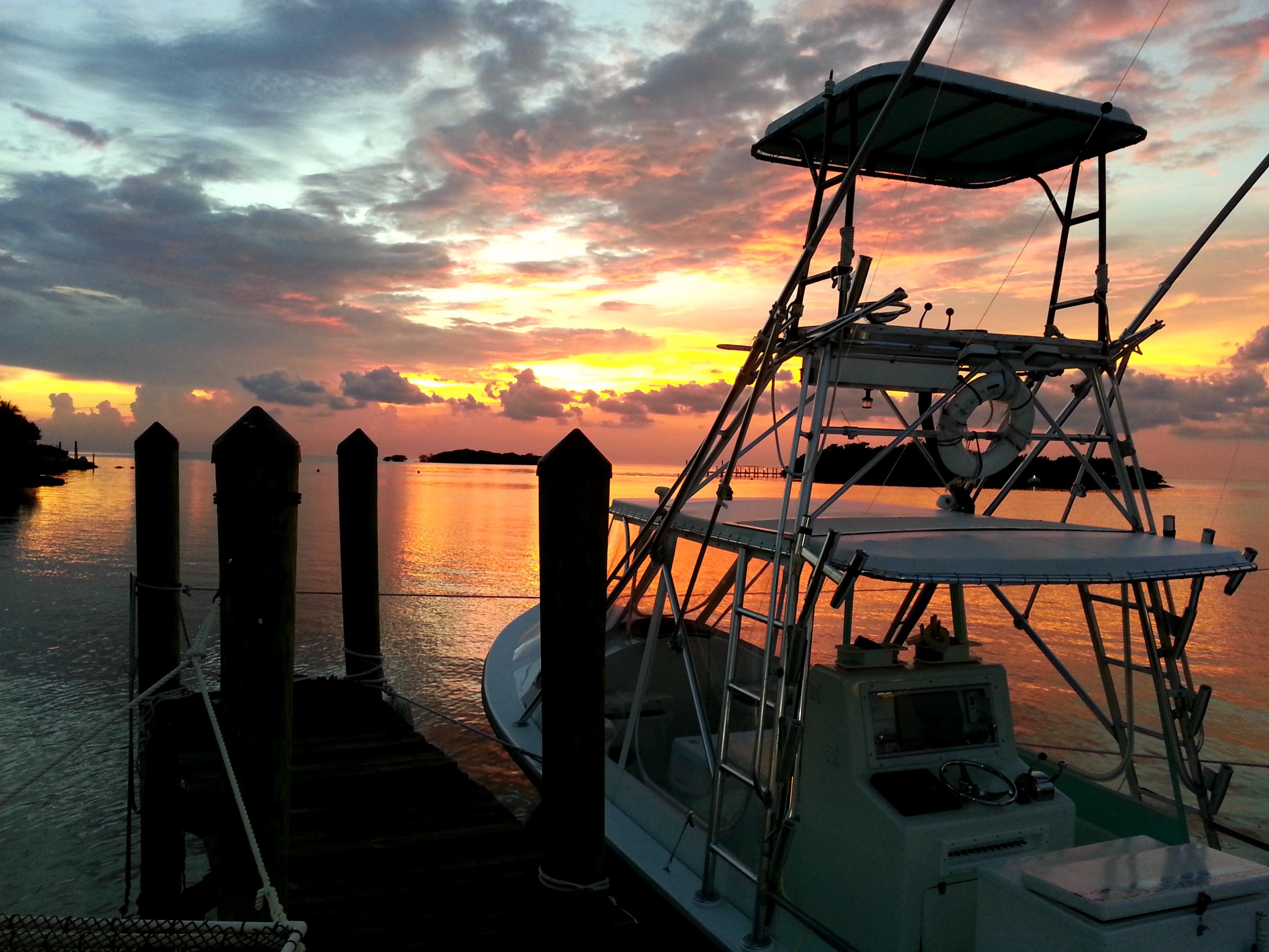 marathon sunset boat