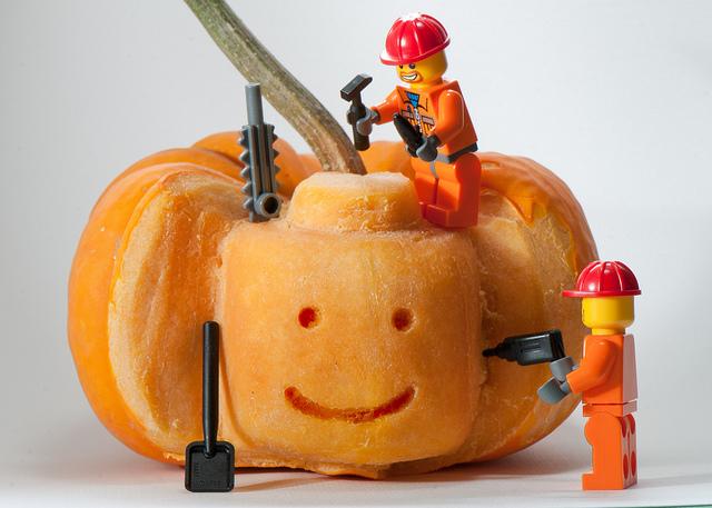 Lego construction, lego pumpkin