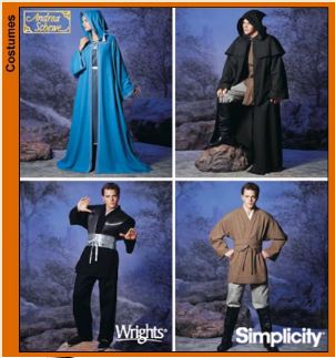 robe pattern, cloak pattern, jedi pattern, jedi costume