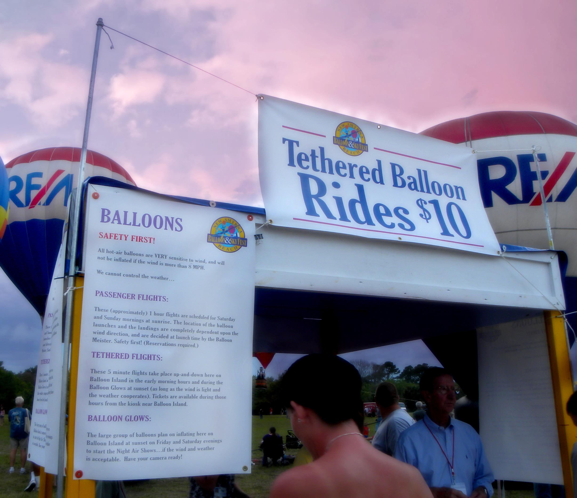 tethered ballon rides