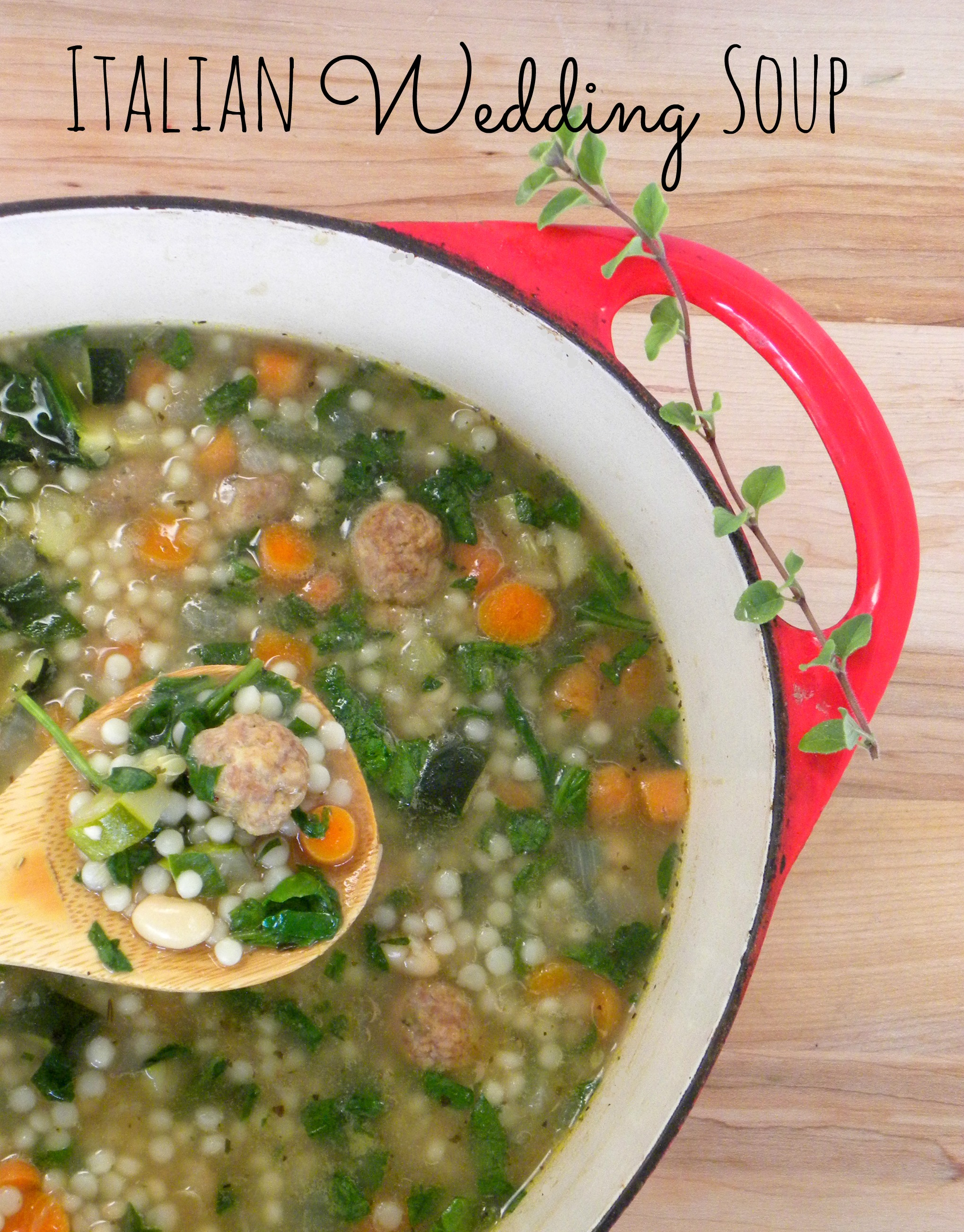 Italian Wedding Soup with Turkey Meatballs | KerryAnnMorgan.com