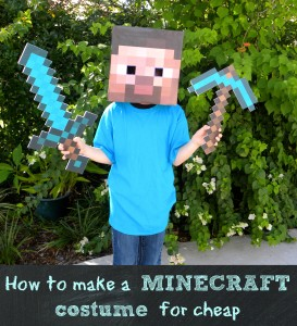 homemade minecraft costume, make a steve head