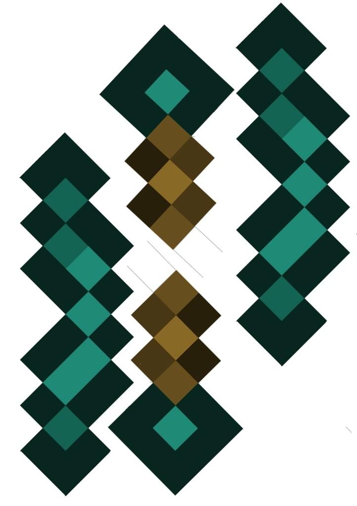 Как сделать из бумаги меч из minecraft