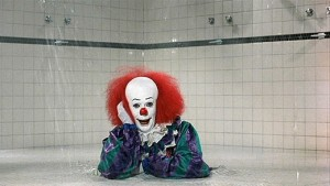 pennywise in shower