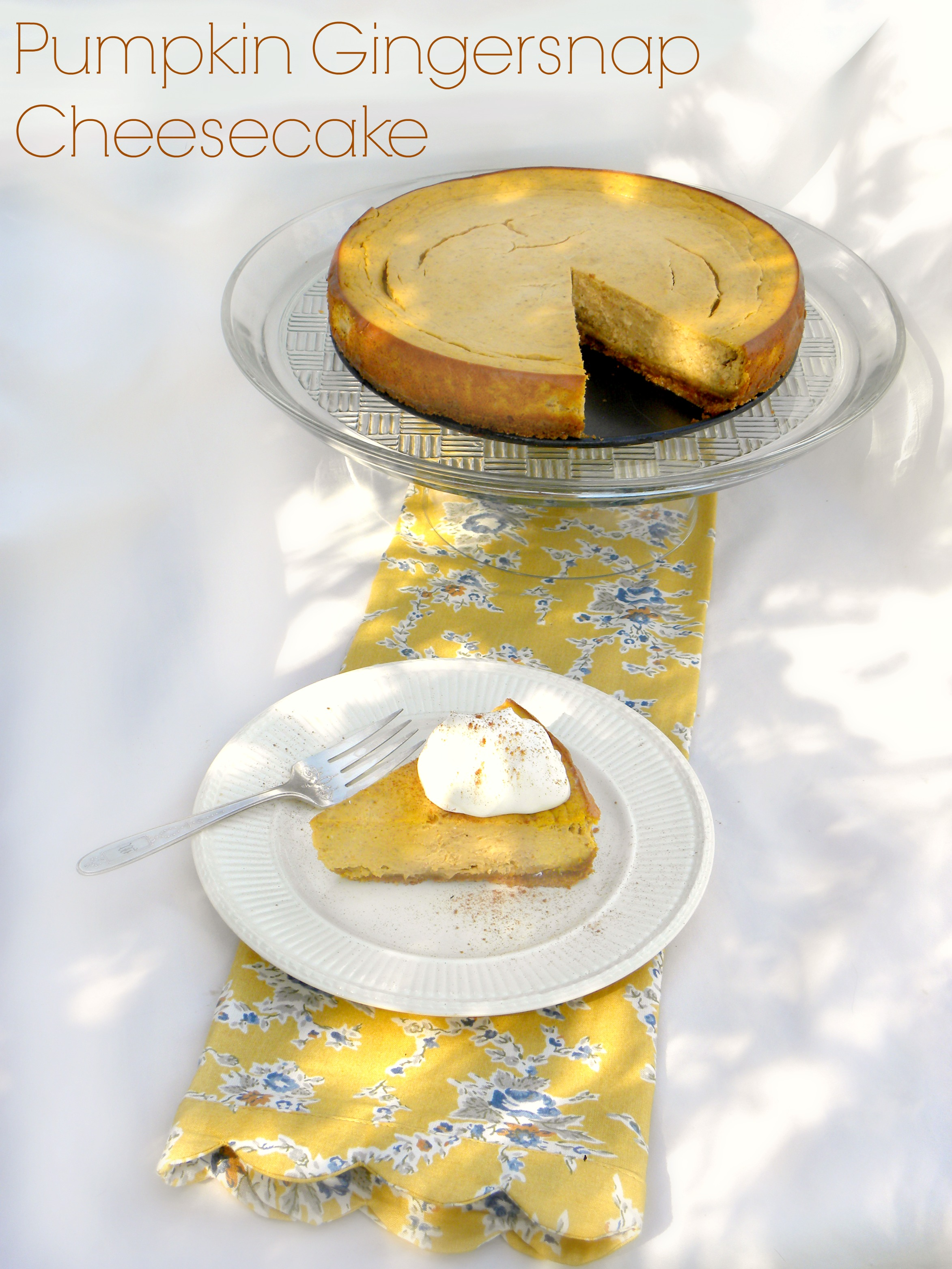 How about some Pumpkin Gingersnap Cheesececake? Easy and delish!  Perfect way to impress your Thanksgiving guests. #thanksgivingrecipes #pumpkinpie