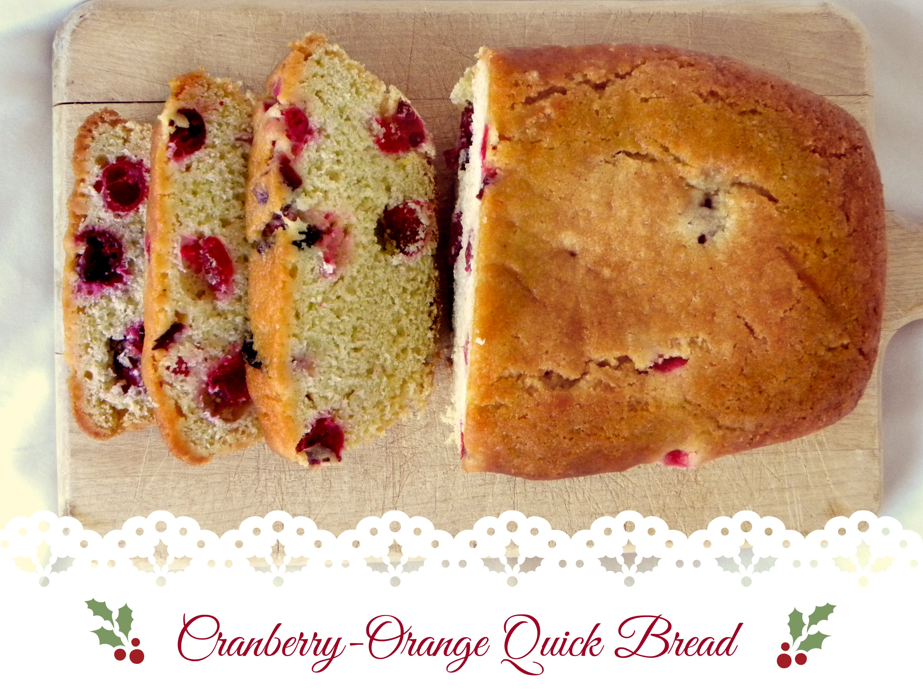cranberry orang quick bread