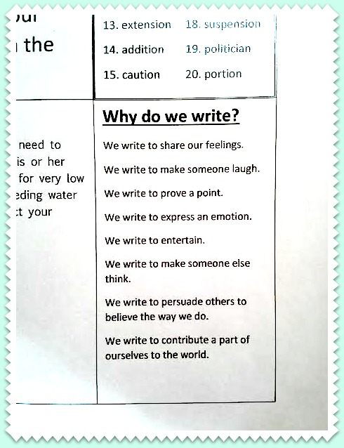 why do we write