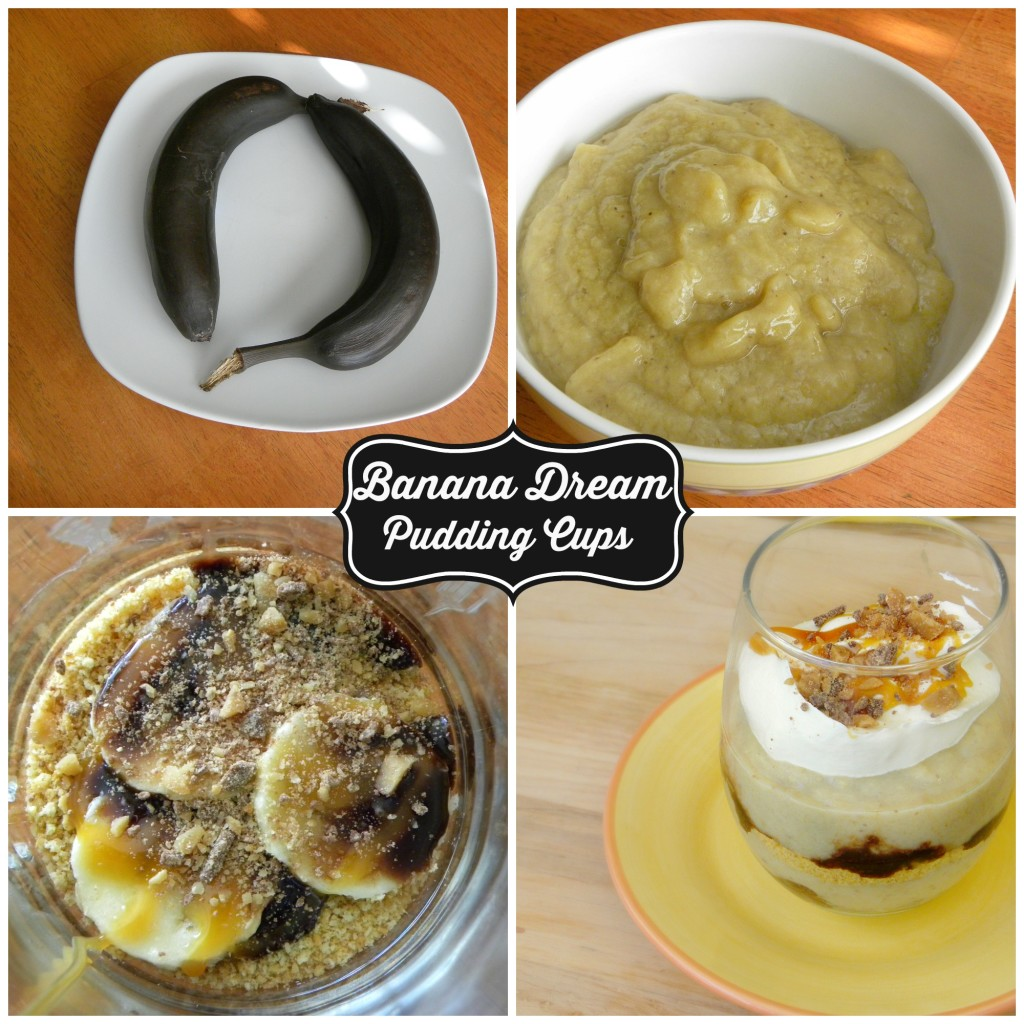 Banana Dream Pudding Cups (from the Southern Cowboy Cookbook). Adding roasted bananas makes all the difference!