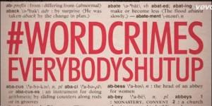 #wordcrimes