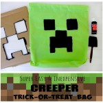 How to make a minecraft creeper bag, minecraft halloween, minecraft party