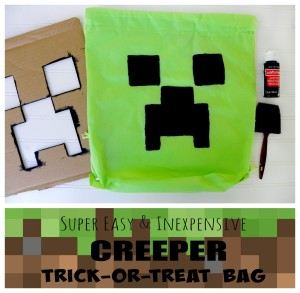 Super Easy & Cheap CREEPER Tric-or-treat bag