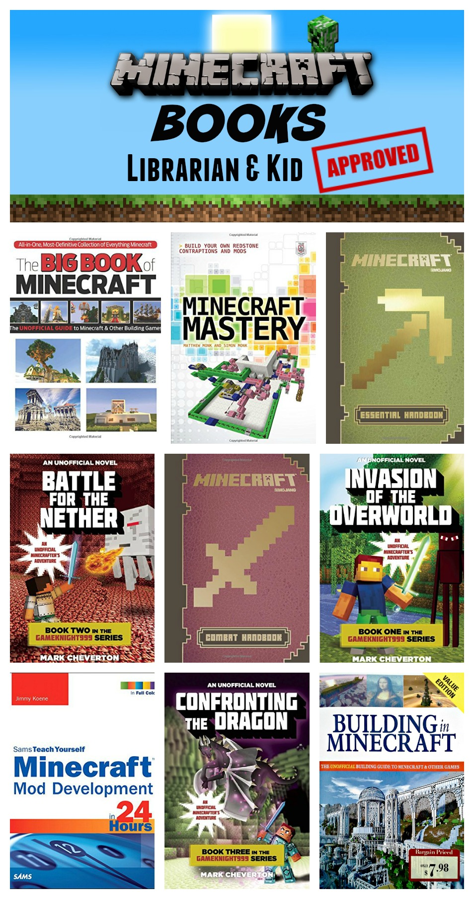 Minecraft Books Kids Will Love — Librarian & Kid Approved ...