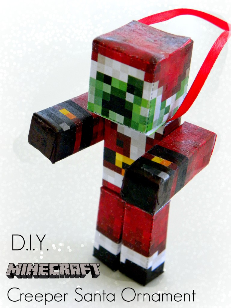 How to make a minecraft diamond sword and diamond pickaxe diy minecraft creeper santa ornament solutioingenieria Images
