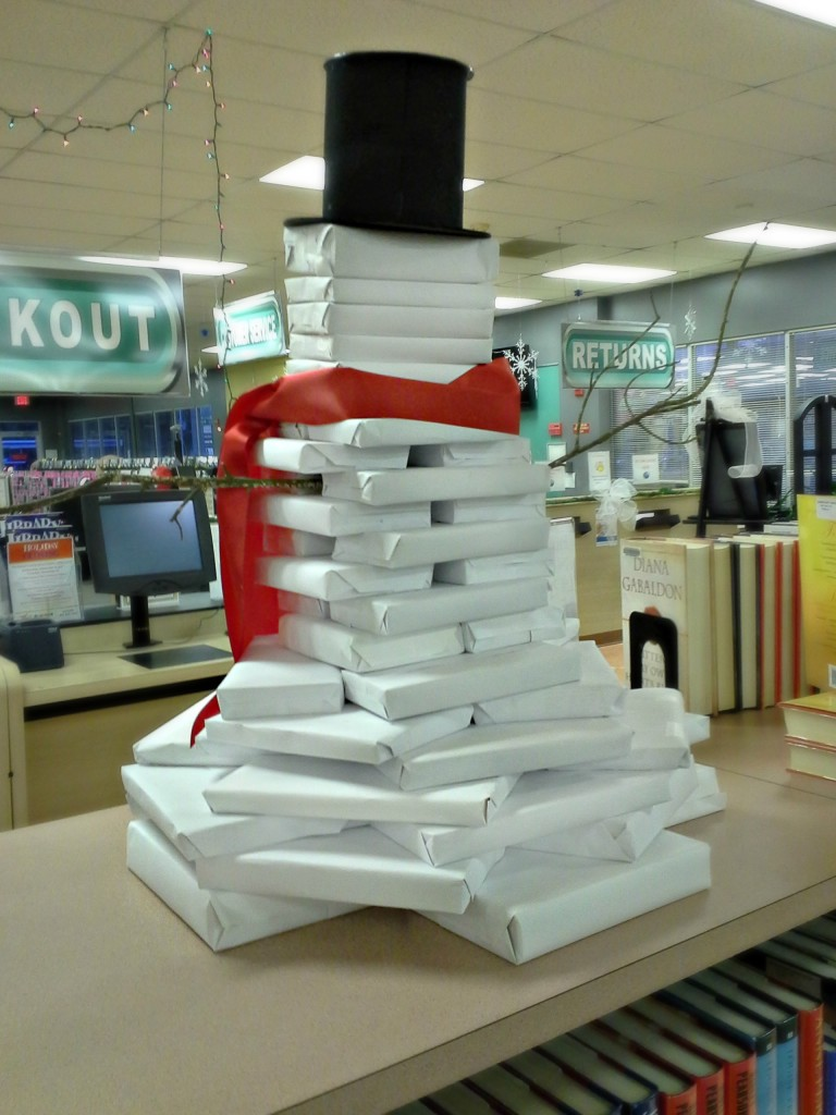 Book snowman construction