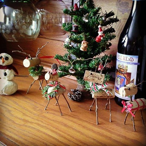 DIY Cork Reindeer