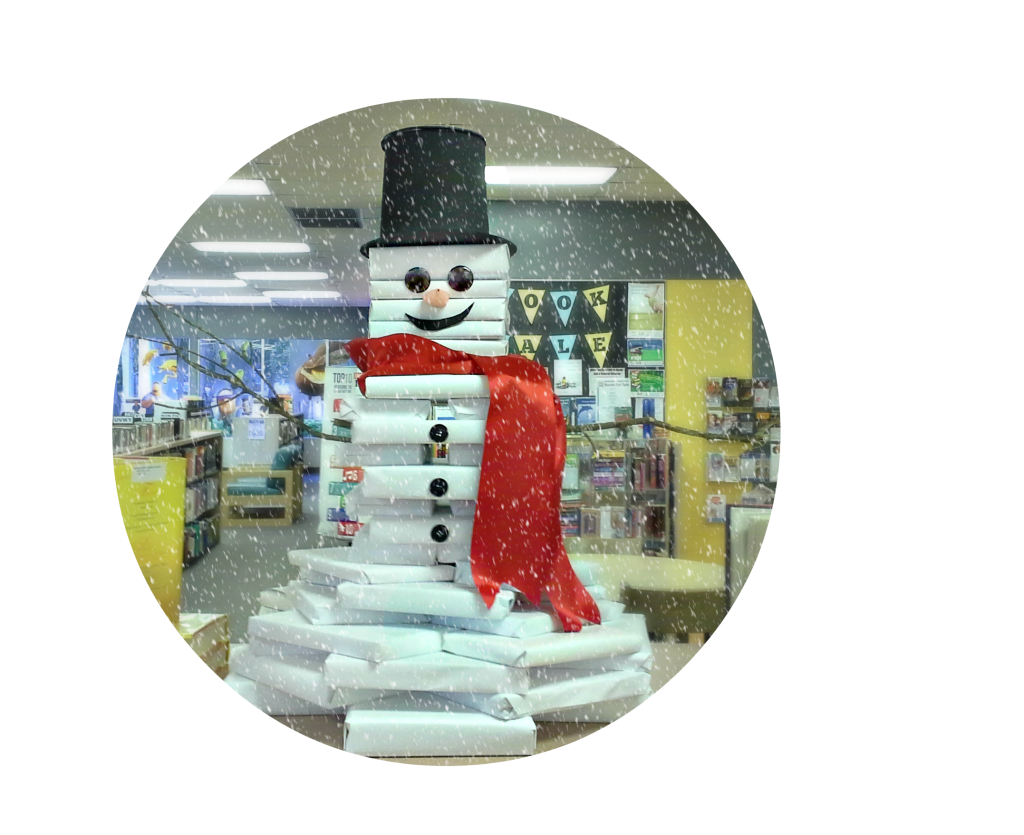 Frosty the book snowman — a holiday library display