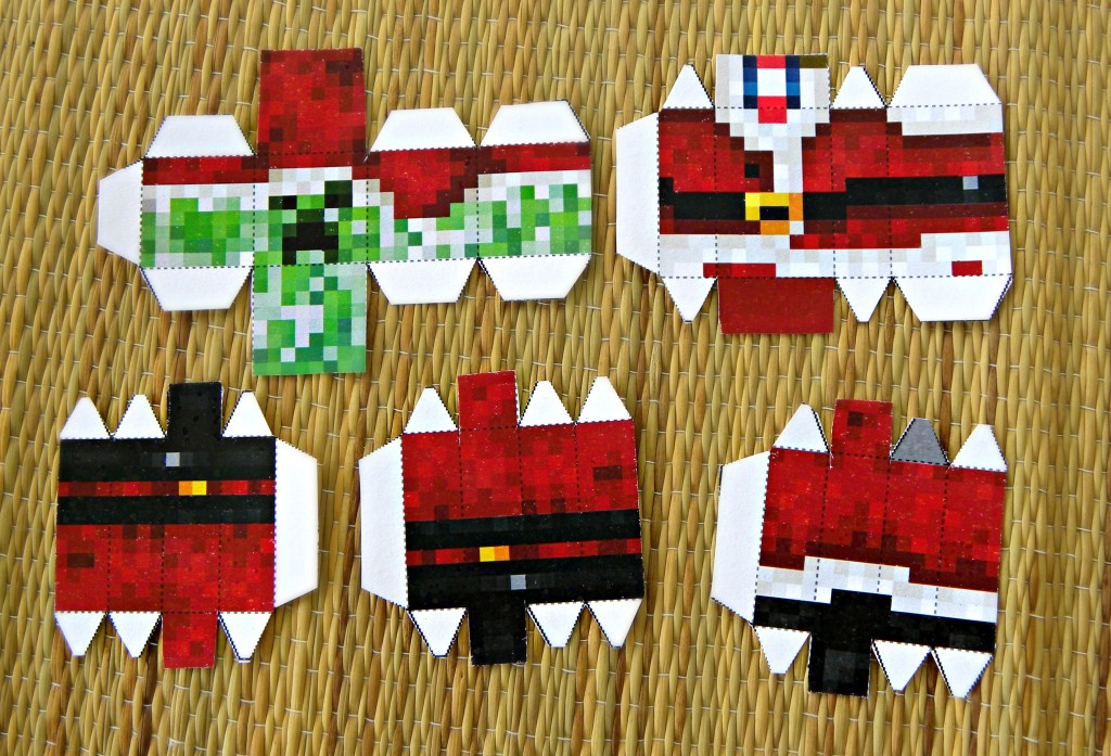 How to make and easy DIY Minecraft Santa Ornament
