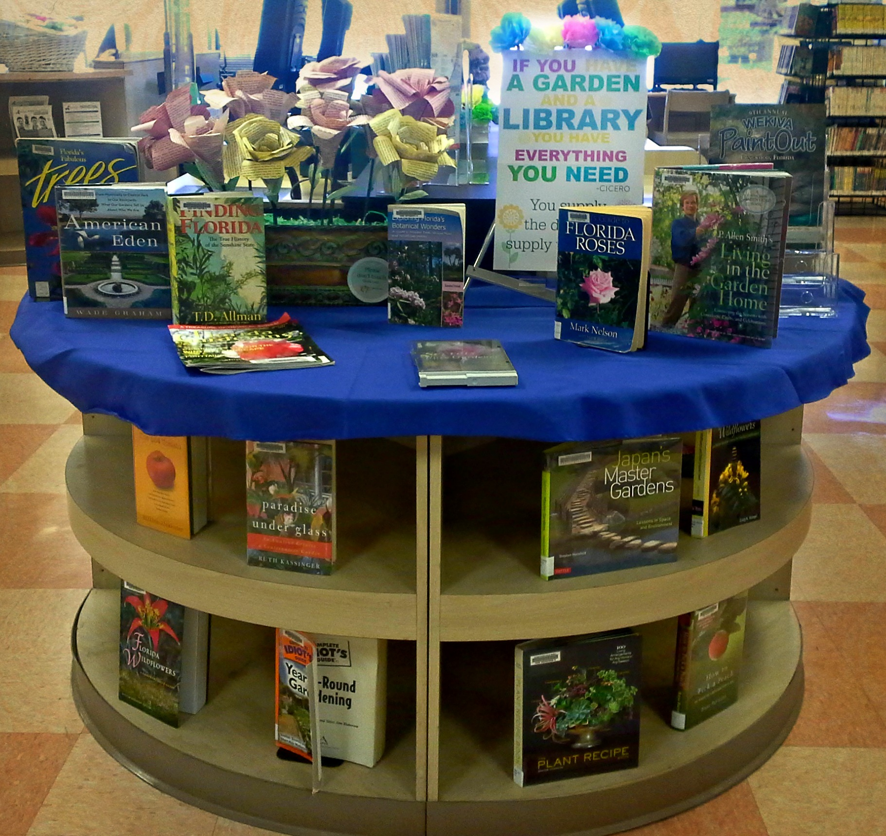 Spring gardening library display