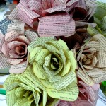 DIY Book Page Flower - paper flower bouquet