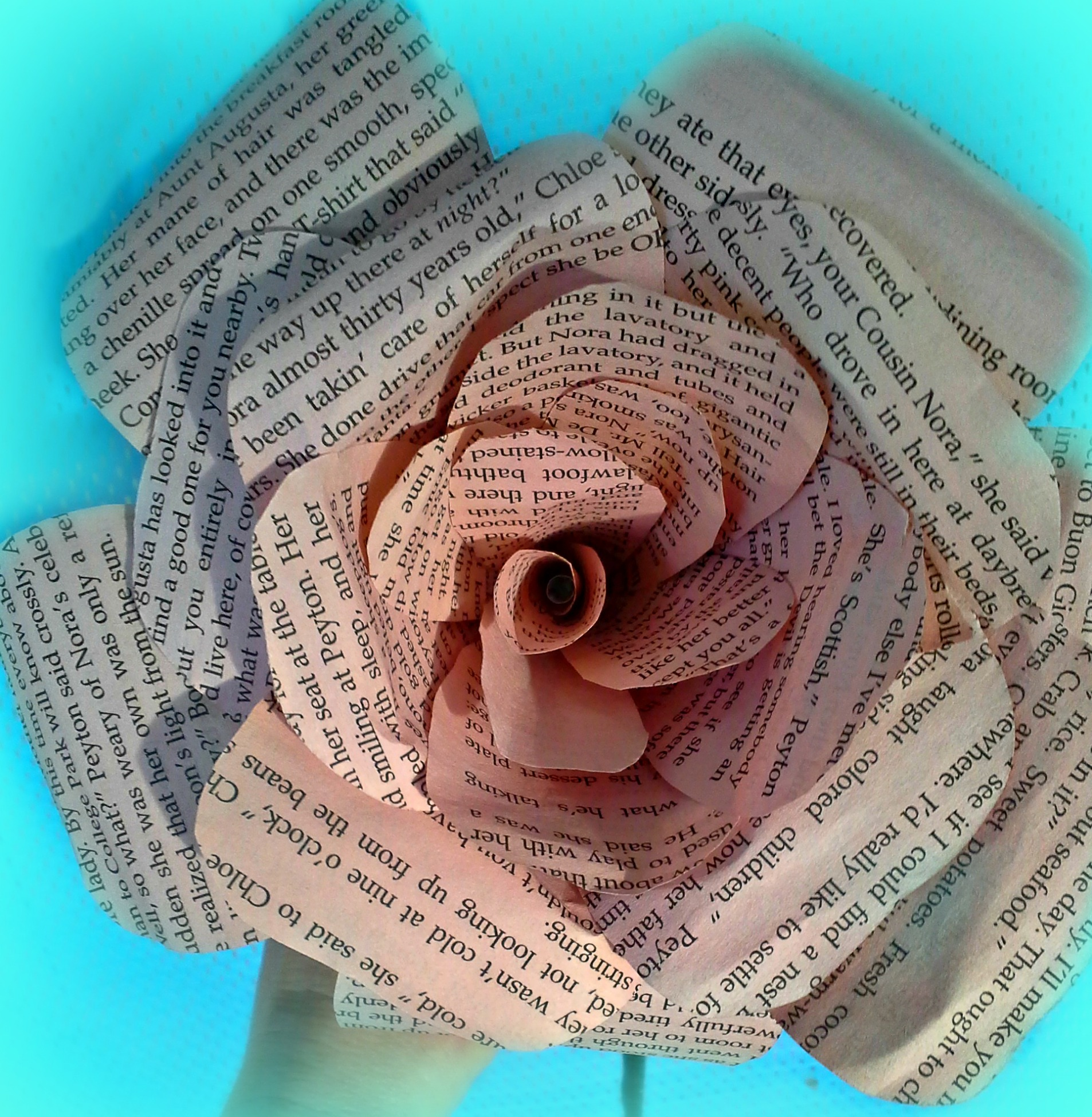 DIY BOOK PAGE FLOWER
