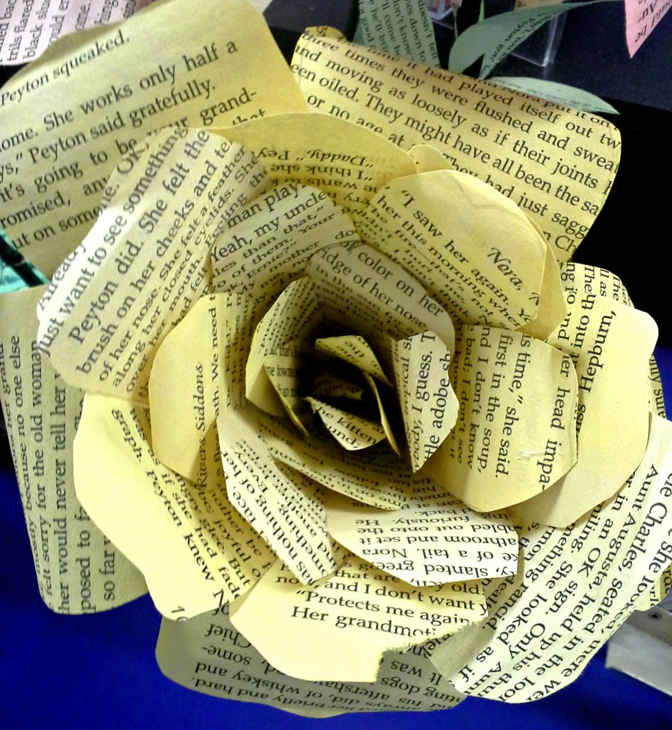 large paper flower, diy paper rose