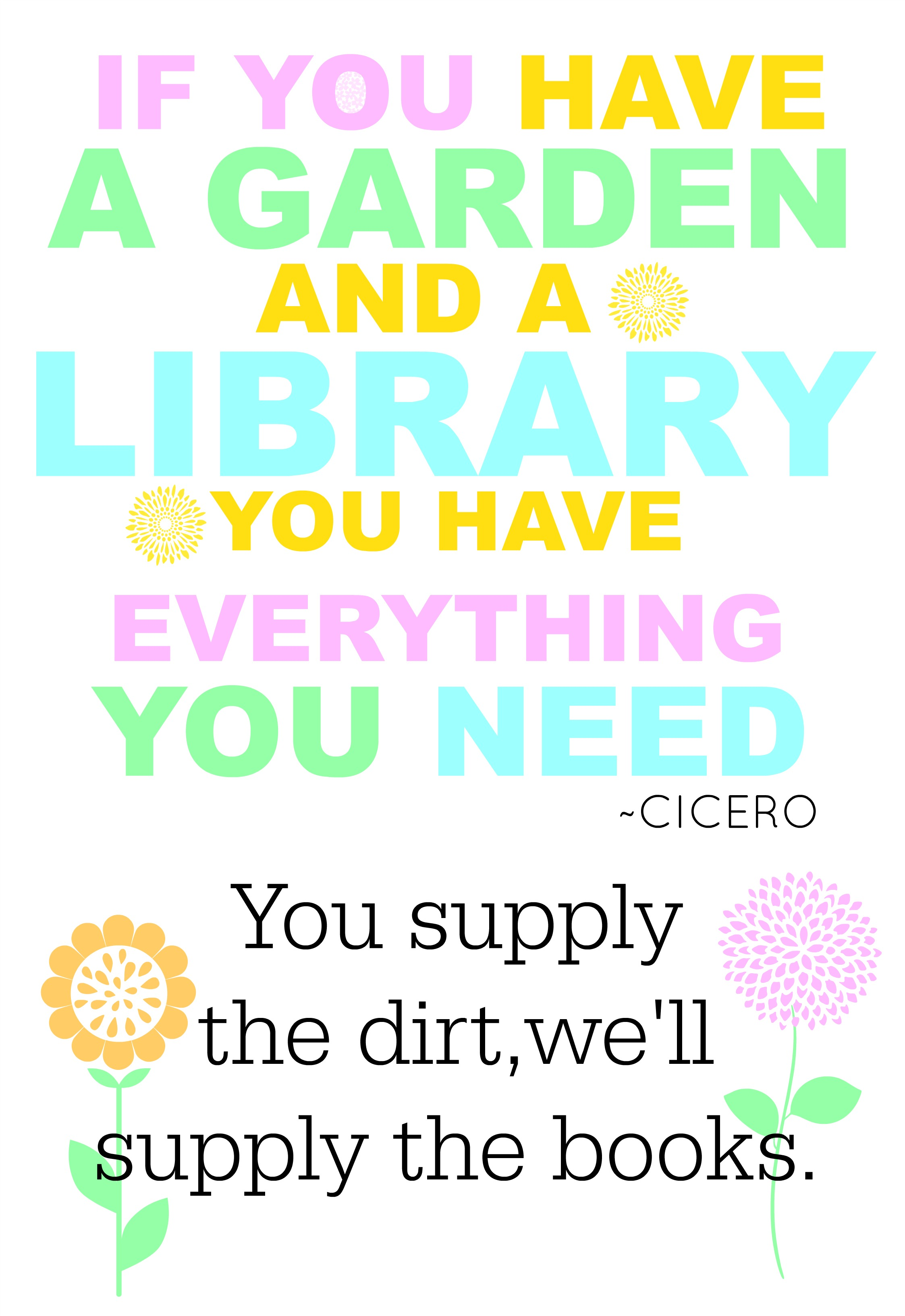 Perfect quote for Spring in the library! #library #display #spring #book #quote