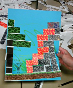 Minecraft stickers for parties or classroom