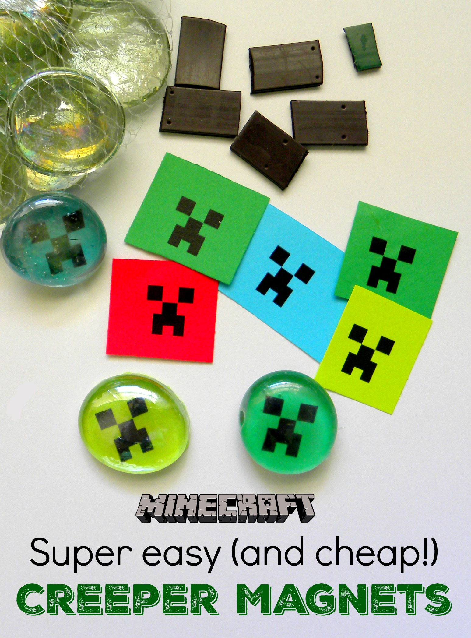 Minecraft madness crafts for parties classrooms or libraries minecraft magnets great party favor or craft solutioingenieria Images
