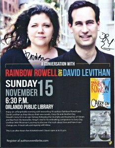 An Evening with Rainbow Rowell and Devid Levithan