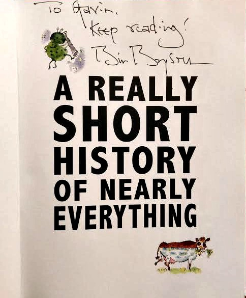 Bill Bryson signed copy a short history of everything