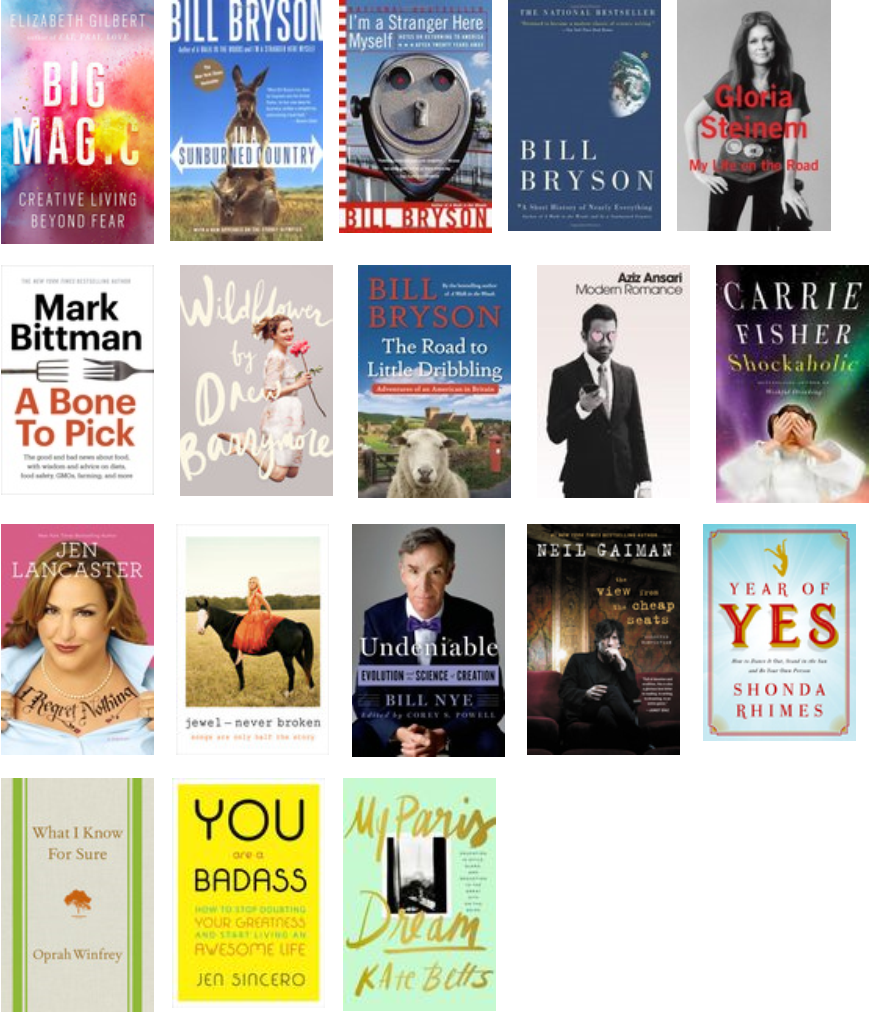 2016 books audio