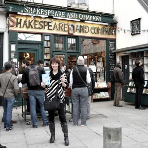 At Shakespeare & Co. bookstore!